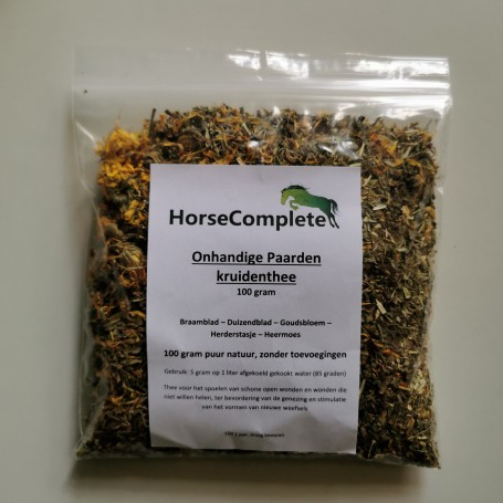 Onhandige paarden kruidenthee